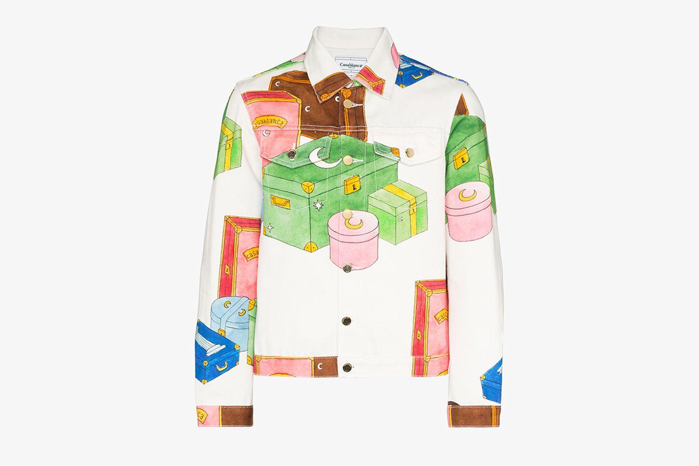 Trunk Print Denim Jacket
