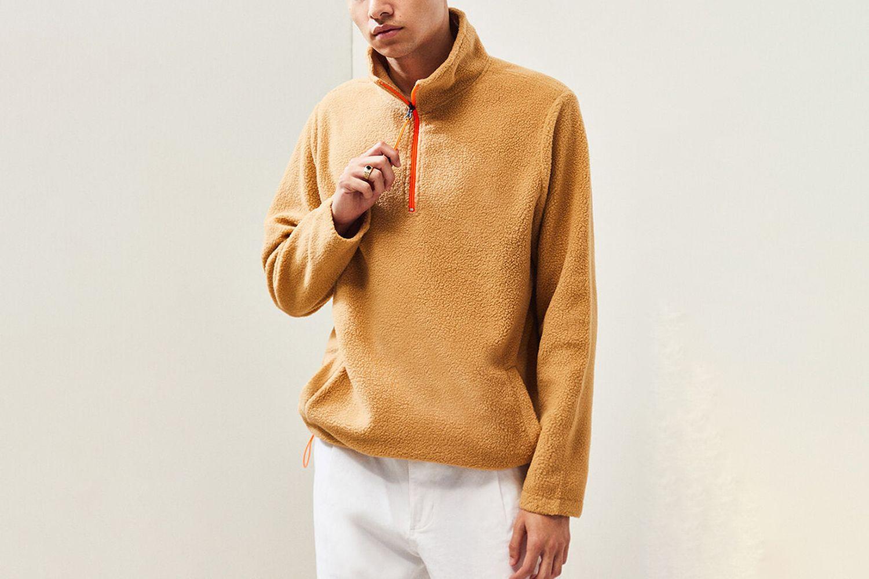 Half Zip Polar Fleece Pullover