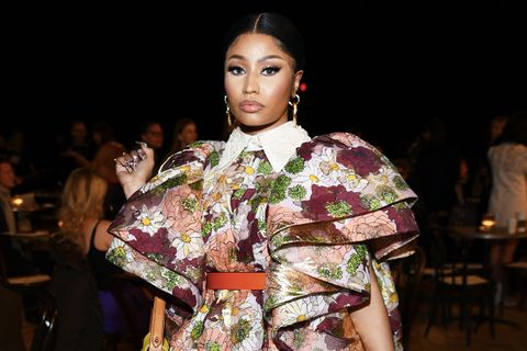 Nicki Minaj attends the Marc Jacobs Fall 2020 runway show