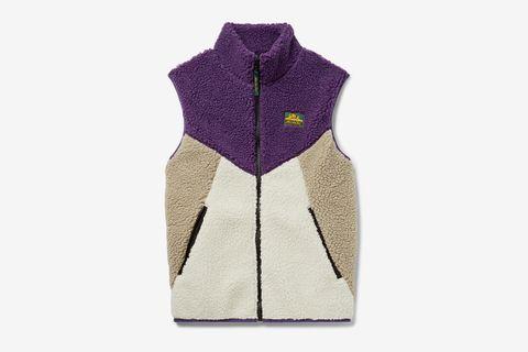 Colour-Block Fleece Gilet
