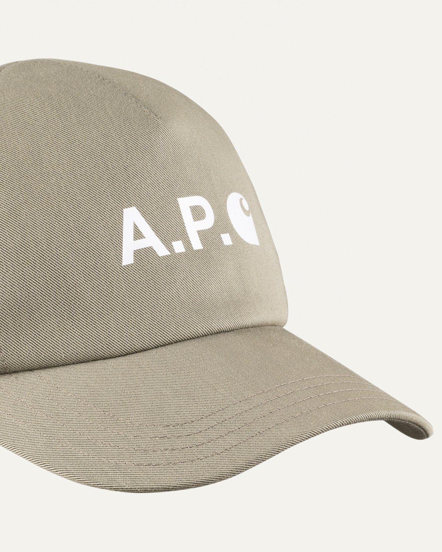 A.P.C. x Carhartt WIP - Cameron Baseball Cap Khaki - Image 4