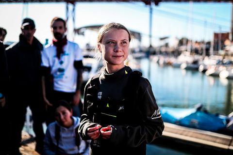 Greta Thunberg documentary seaside dock