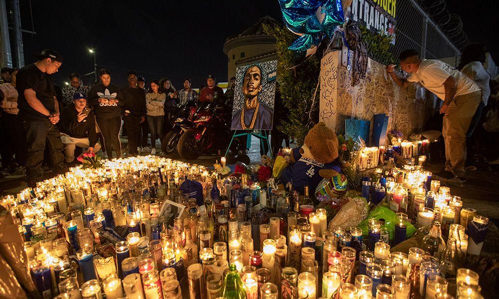 15 Injured Amp One Stabbed As Nipsey Hussle Vigil Ends In