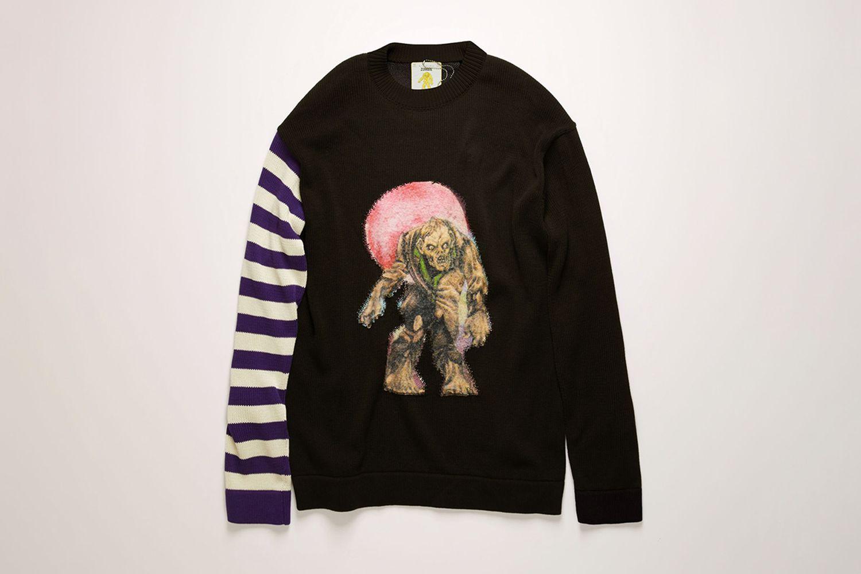 Monster-Jacquard Sweater
