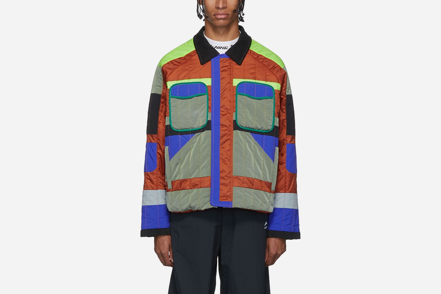 Multicolor Quilted Jacket