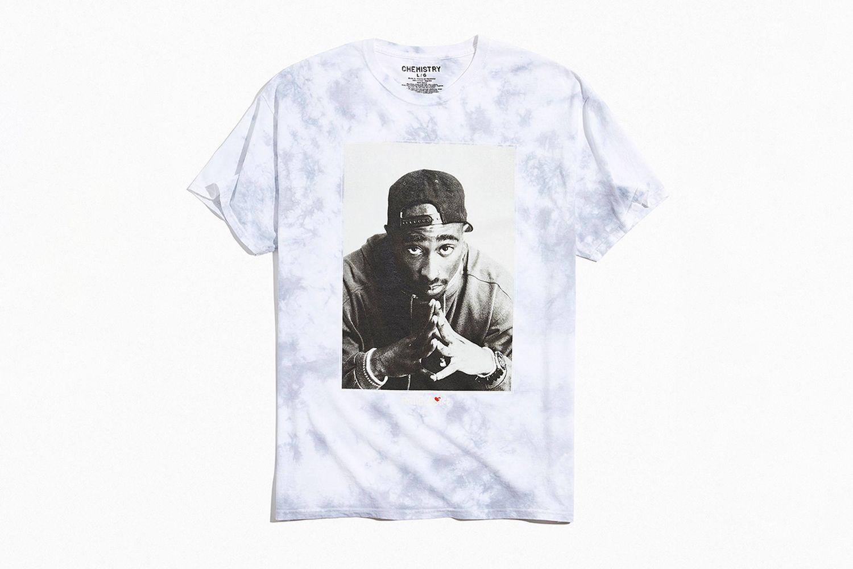 Poetic Justice Tupac Photo Tie-Dye Tee