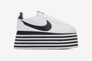 COMME des GARÇONS  Nike Cortez Platform Is Available in White   Black  Colorways 83288d6a5