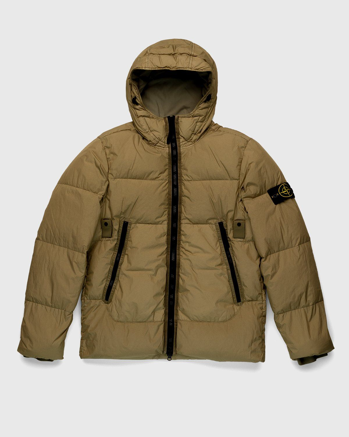Stone Island – Real Down Jacket Natural Beige - Image 1
