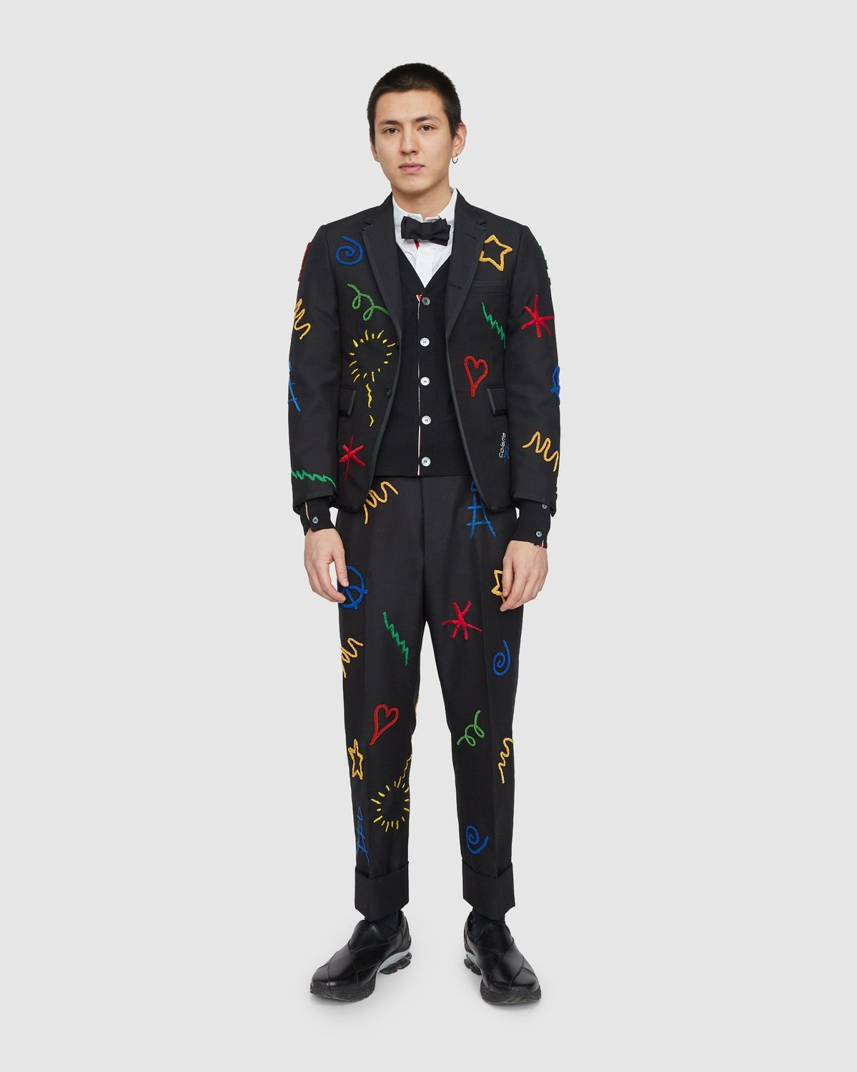 Colette Mon Amour x Thom Browne — Black Embroidered Tux Suit - Image 9