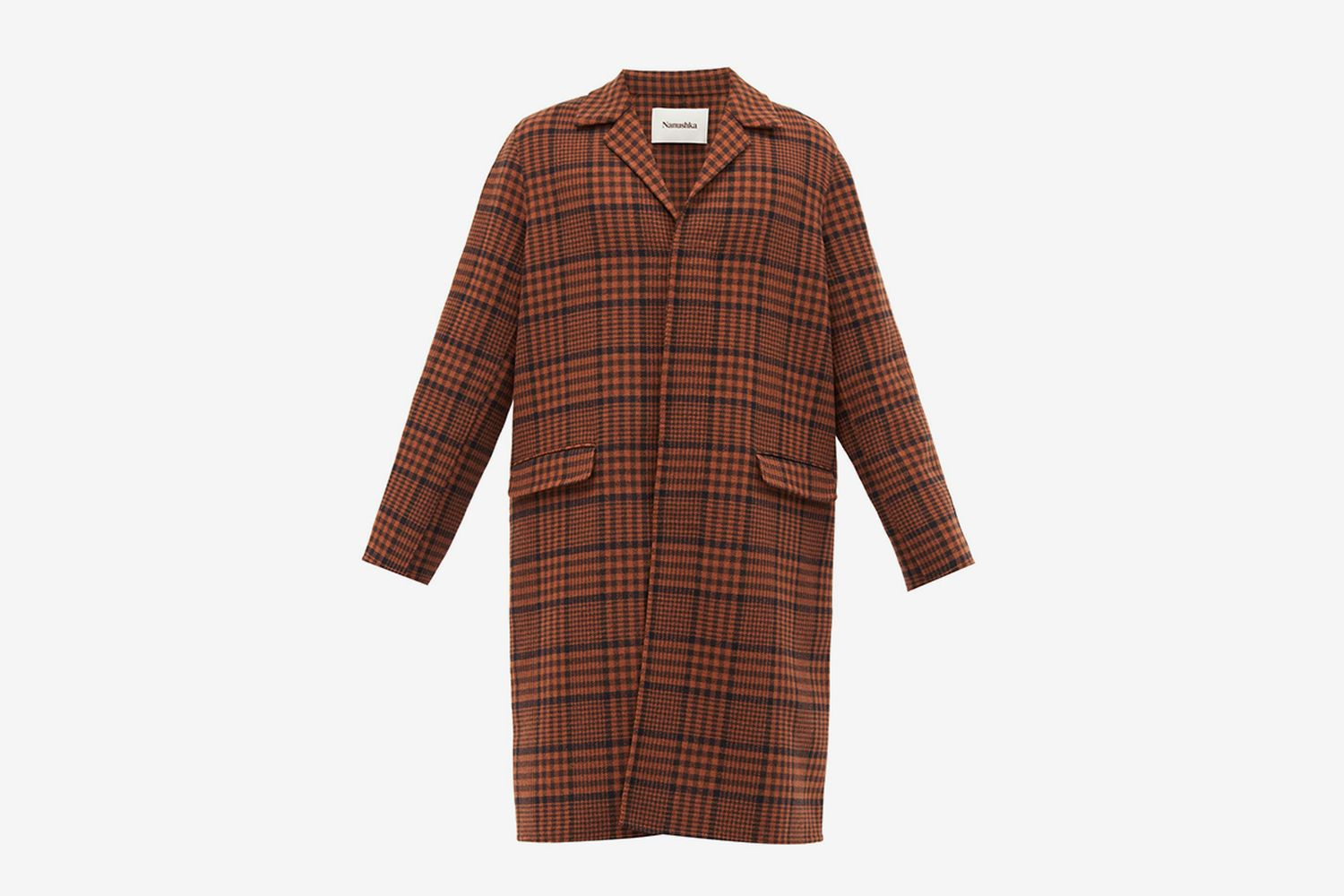 Malick Checked Wool-Blend Coat