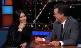 """Watch Nicki Minaj Rap About Stephen Colbert in a """"Barbie Dreams"""" Update"""