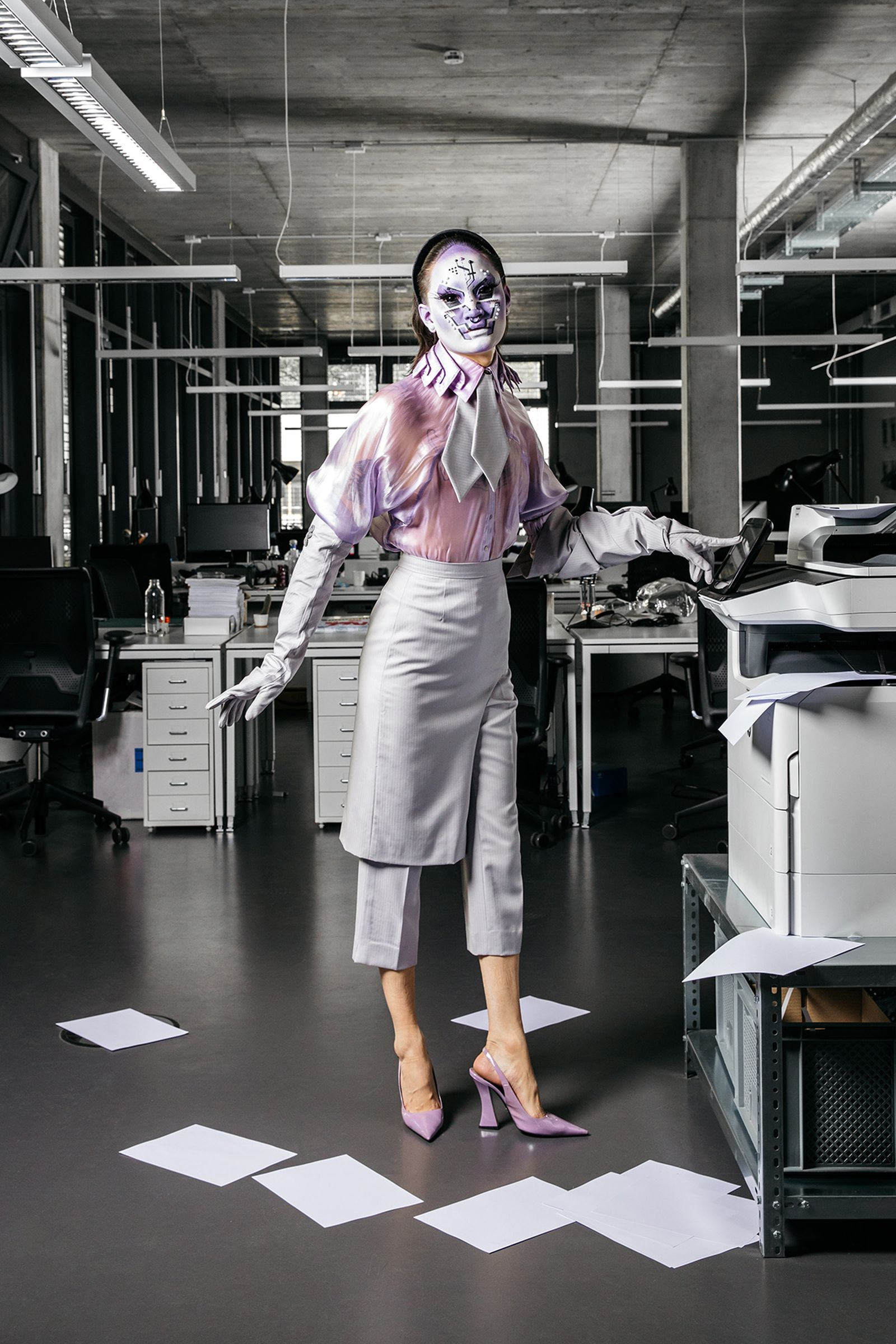 Garments: Catalogue Of Disguise, Tie: Hungry, Shoes: Prada