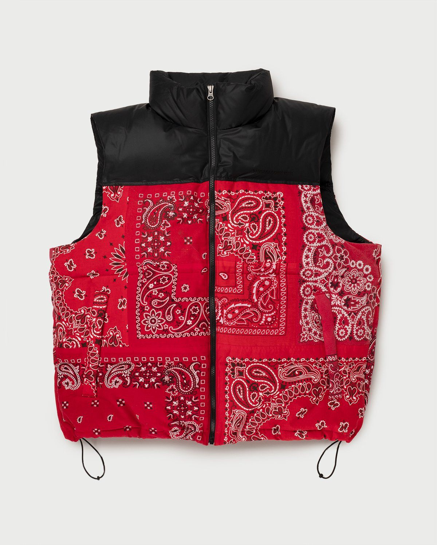 Miyagihidetaka Bandana Vest Red - Image 1
