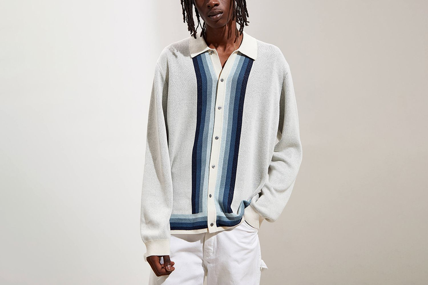 Lightweight Polo Cardigan