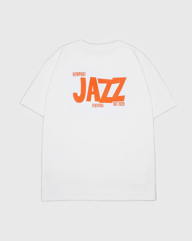 Highsnobiety — Newport Jazz Logo T-Shirt White - Image 1