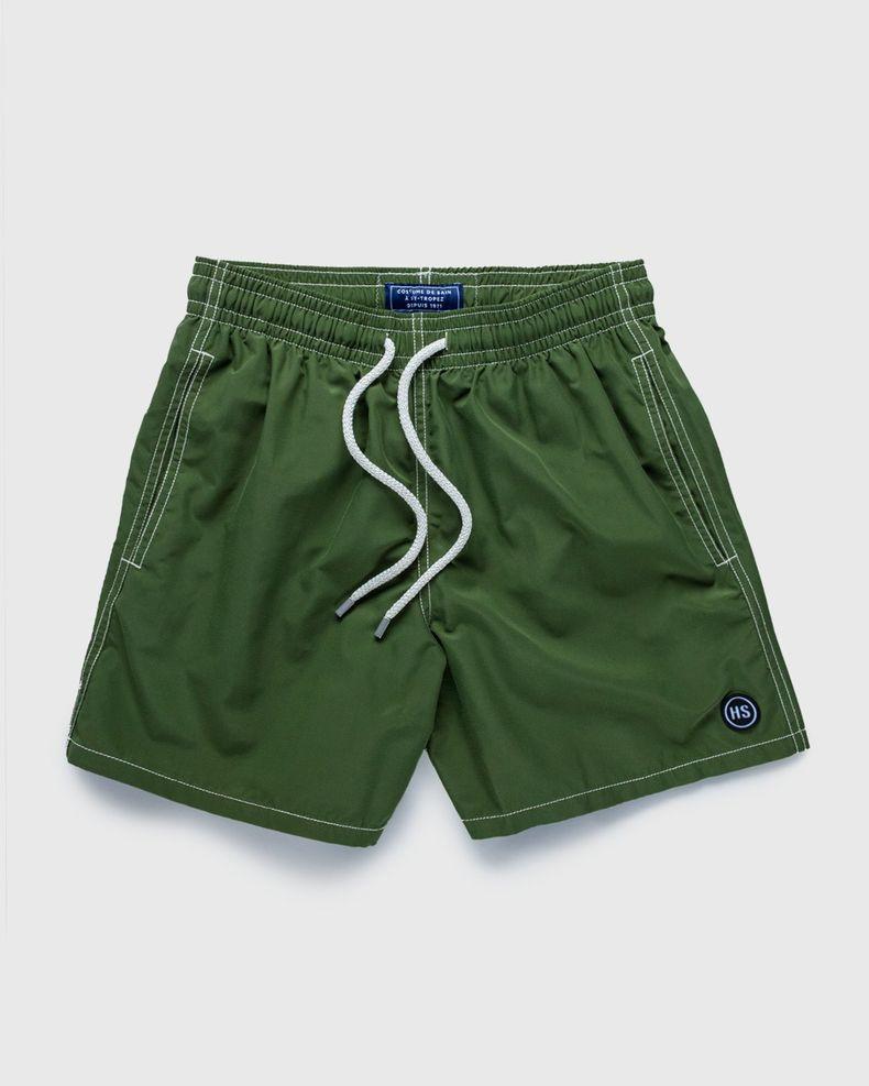 Vilebrequin x Highsnobiety — Logo Shorts Green