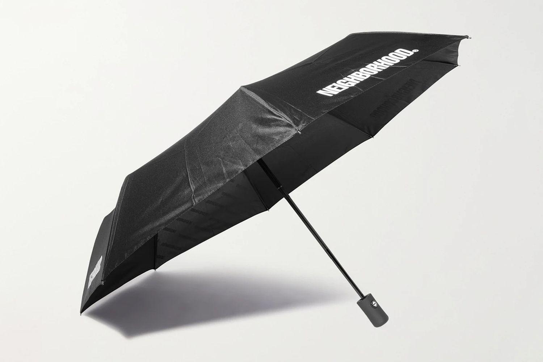 Logo-Print Fold-Up Umbrella