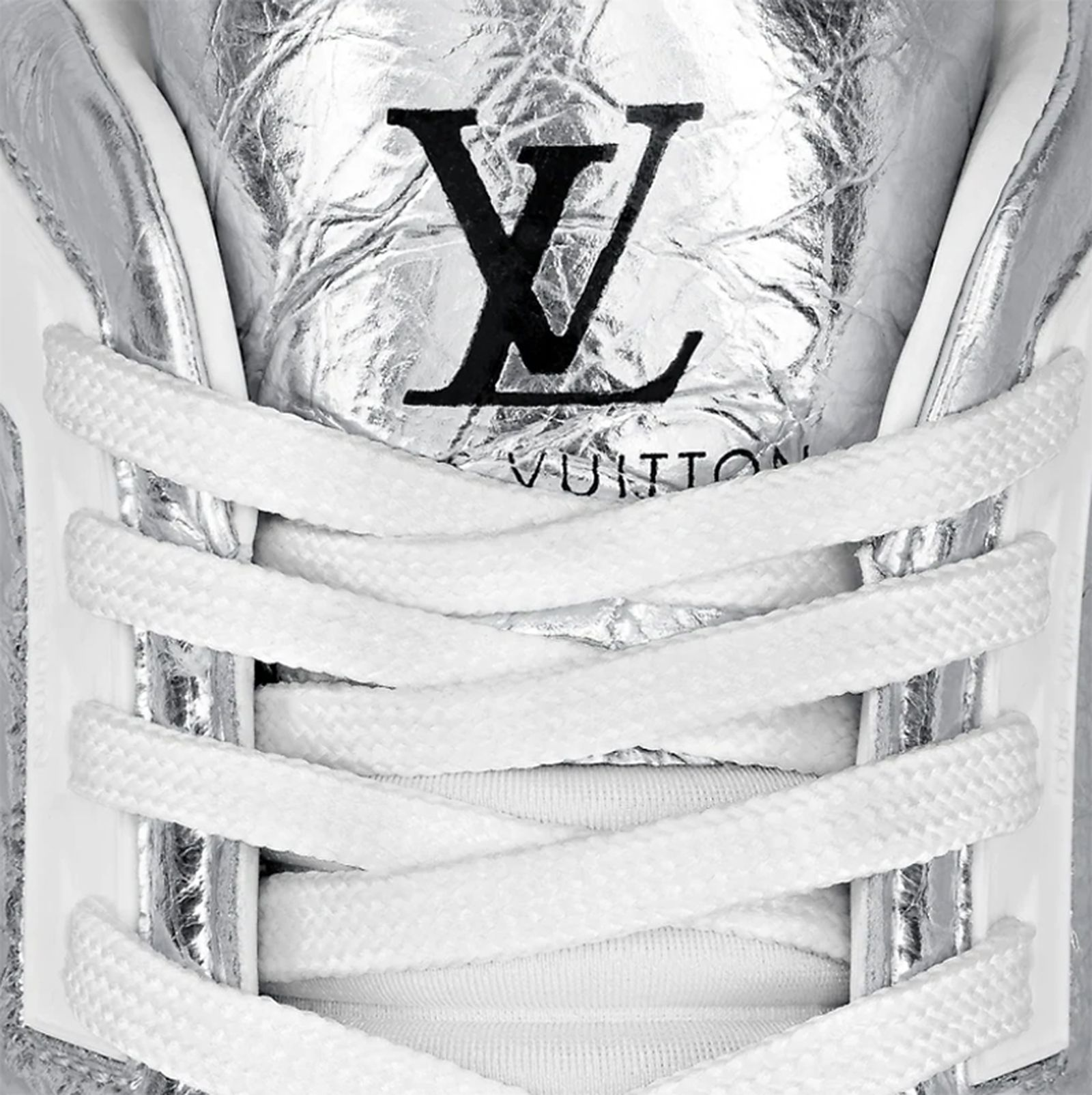 "Louis Vuitton LV Trainer ""Metallic Silver"""