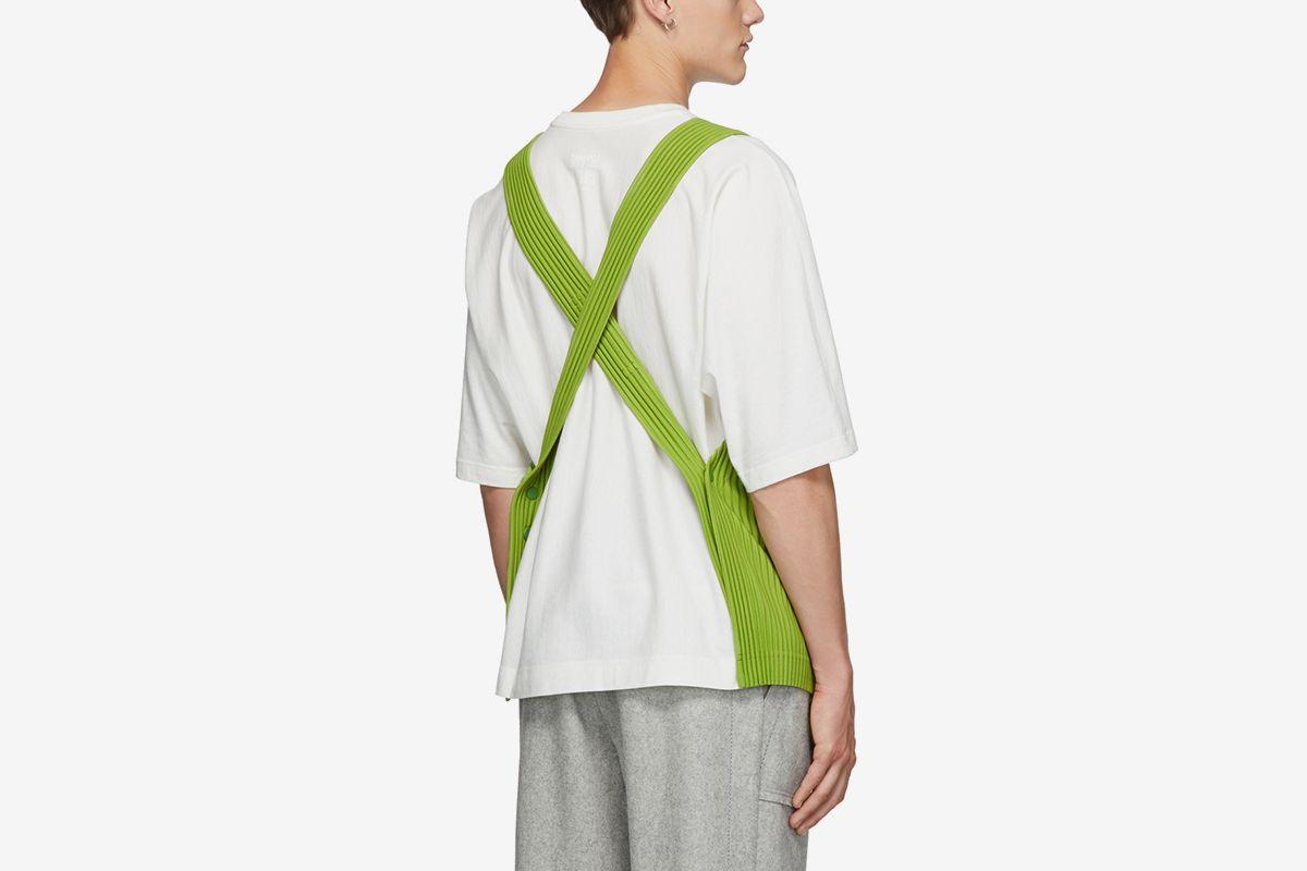 Pleated Apron Vest