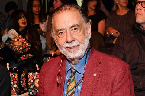 Francis Ford Coppola Front row Anna Sui red jacket