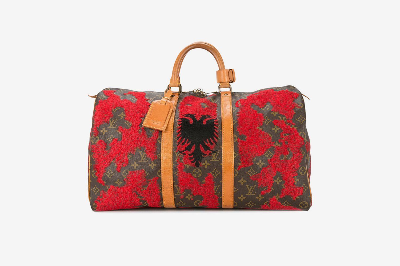 Albania Flag Vintage Louis Vuitton Keepall