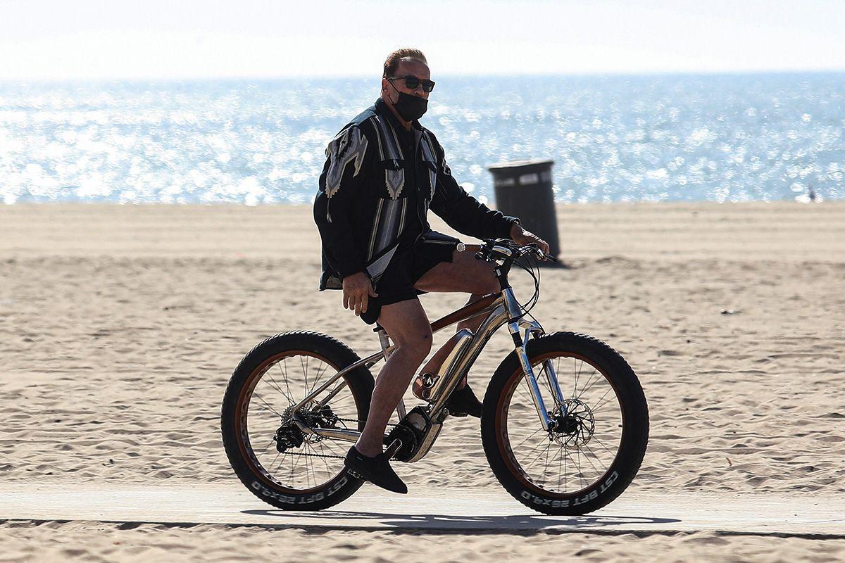 What's Bigger, Arnie, His Bike, Or His Drip?