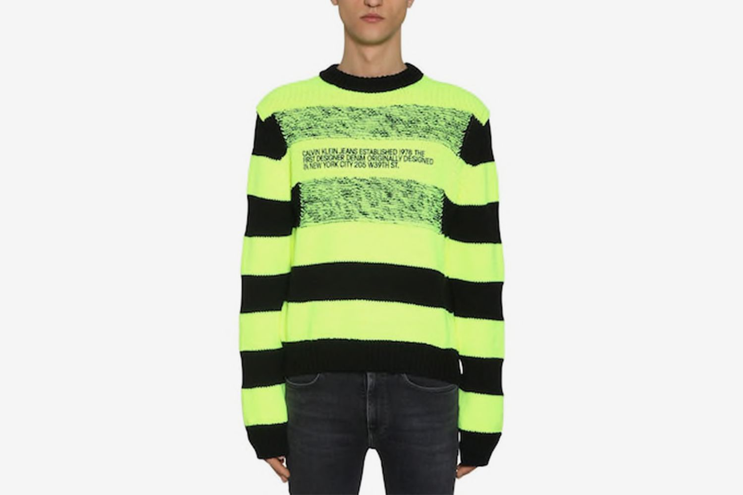 Striped Logo Intarsia Sweater