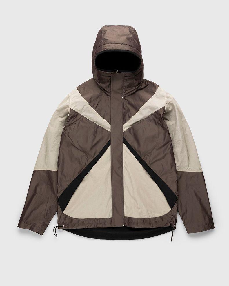Arnar Mar Jonsson – Texlon Composition Outerwear Jacket Beige Chocolate Black