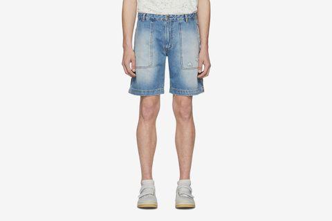 Blå Konst Remi Ripped Shorts