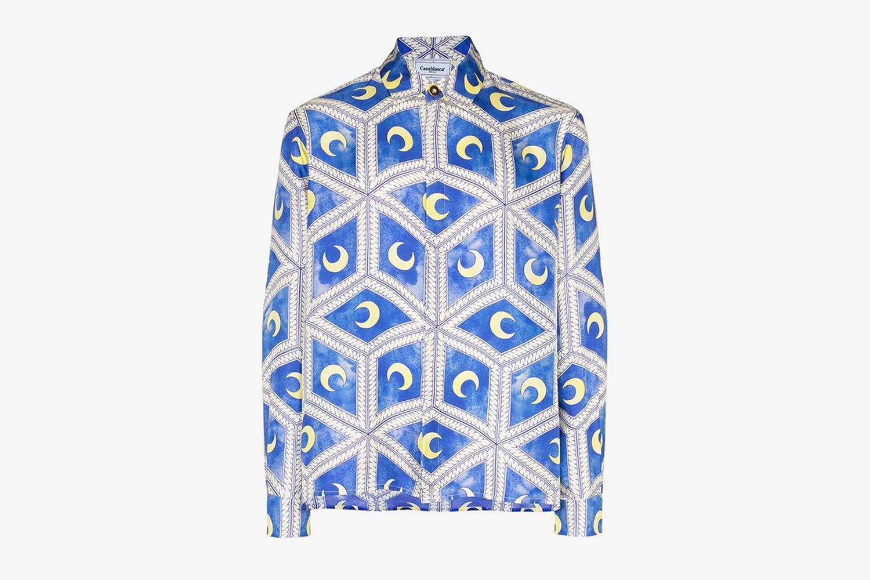 Moonlight Tiles Silk Shirt