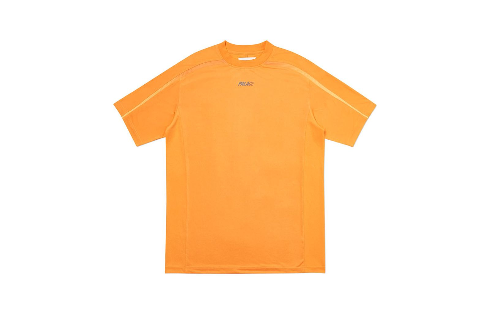Palace 2019 Autumn T Shirt Stripe Logo orange front fw19