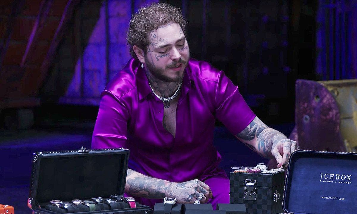Watch Post Malone Show Off His Insane Watch Collection