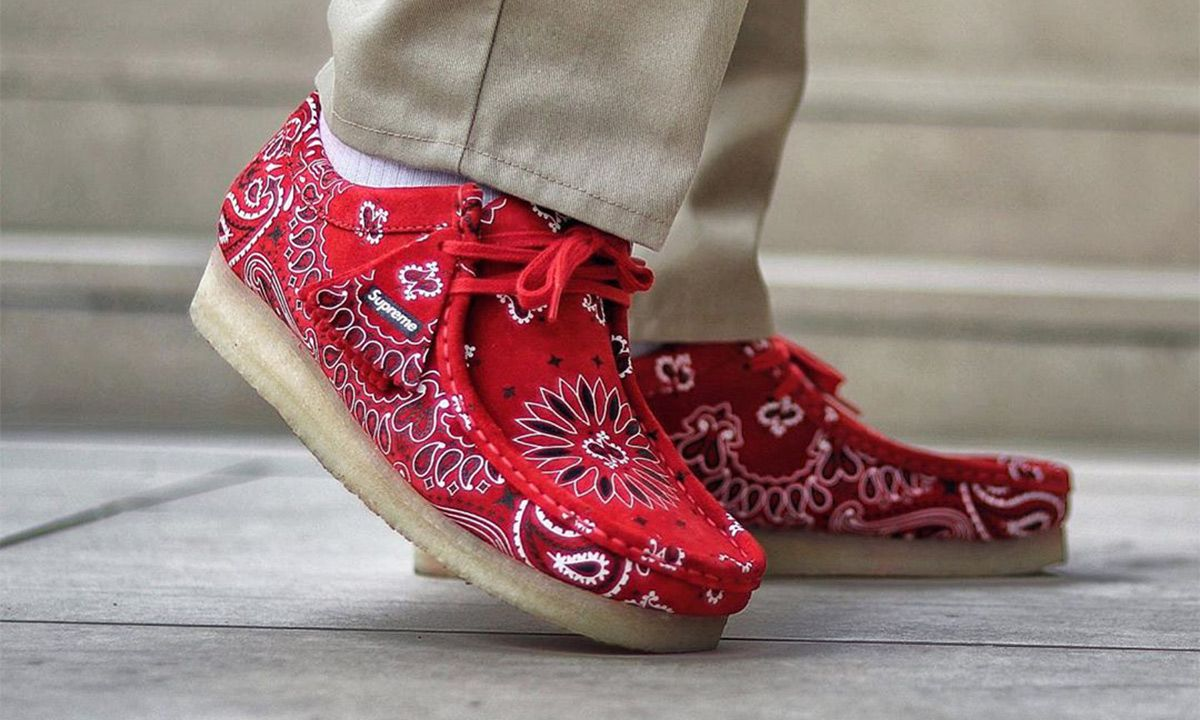 f416f18d Supreme x Clarks Paisley Wallabees & More Best Instagram Sneaker Shots