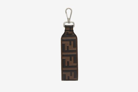 Logo-Embossed Leather Key Ring