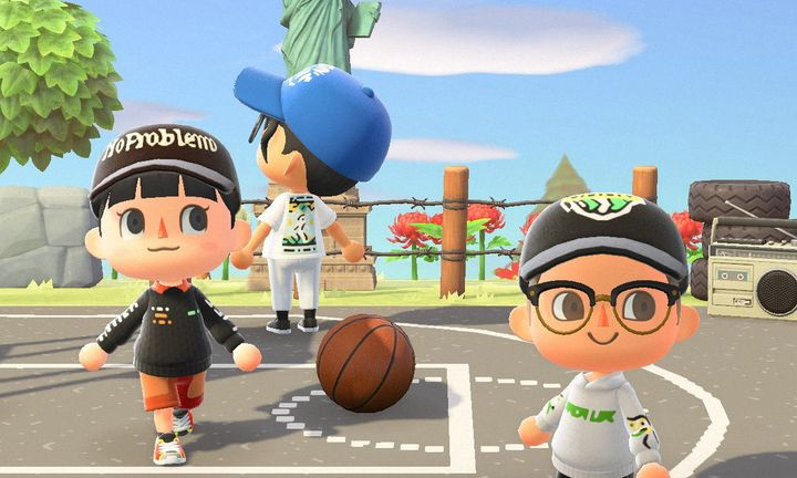 still from 'animal crossing' game