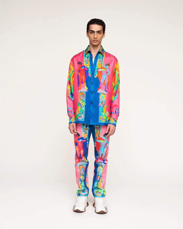 Versace —  Silk Shirt Multicolour - Image 2