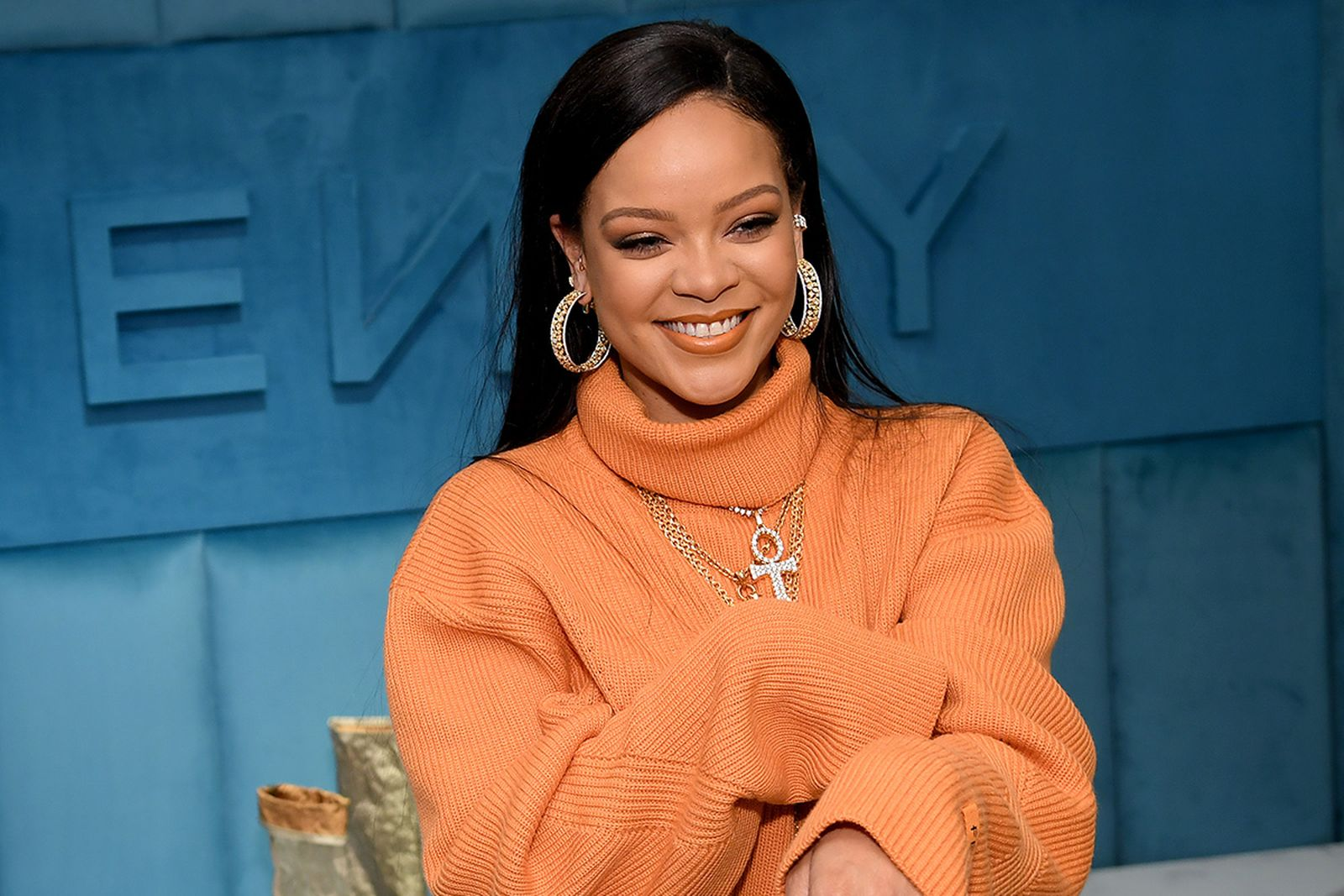 Rihanna celebrates the launch of FENTY at Bergdorf Goodman