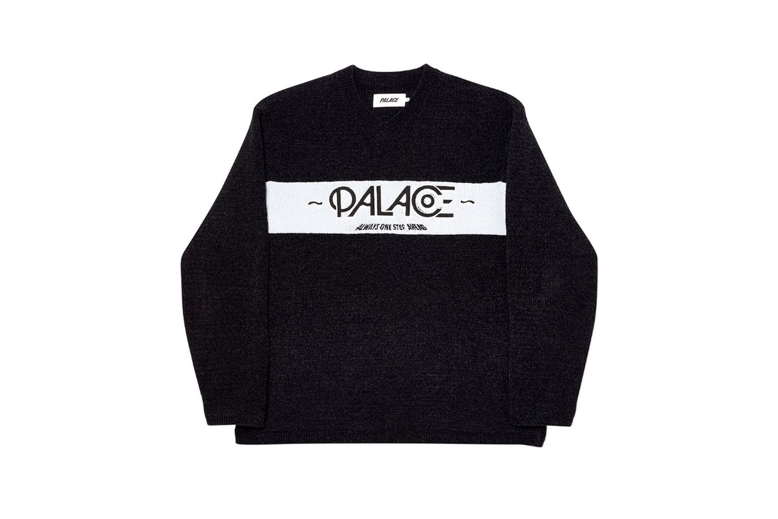 Palace 2019 Autumn knit obsission black front fw19