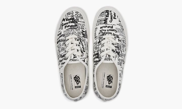 comme des garcons vans authentic white release date price dover street market