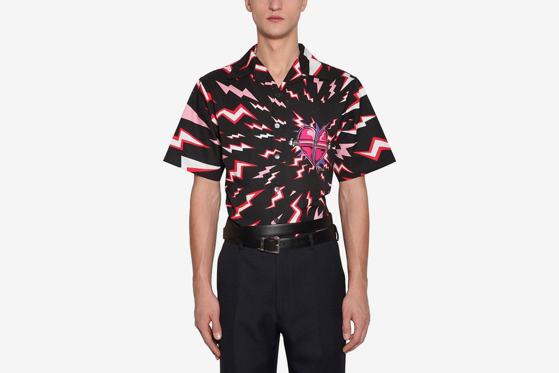 Printed Thunder Cotton Poplin Shirt