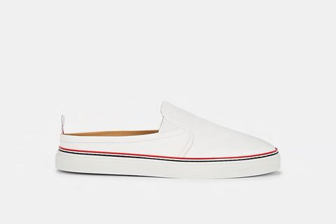 Scotch Grain Leather Slip-On Sneakers