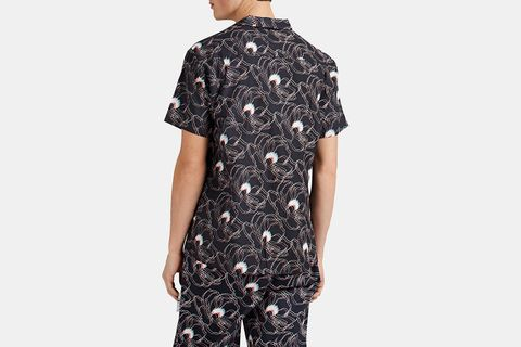 Abstract-Floral Cotton Voile Shirt