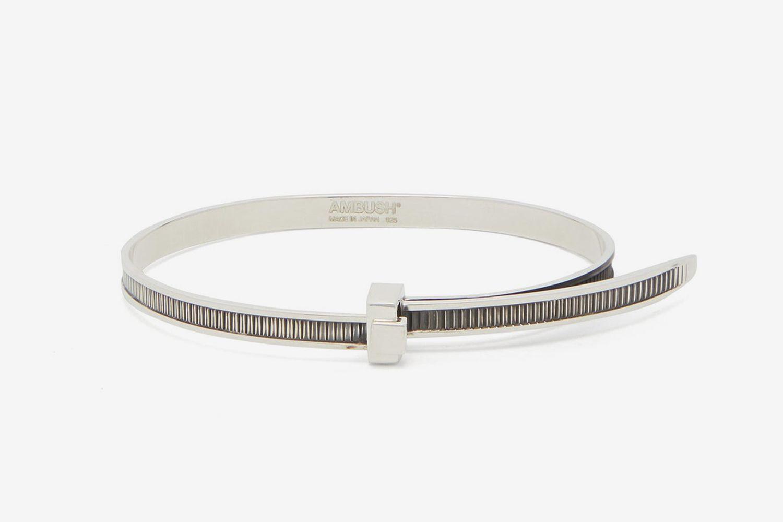 Zip-Tie Sterling-Silver Bracelet