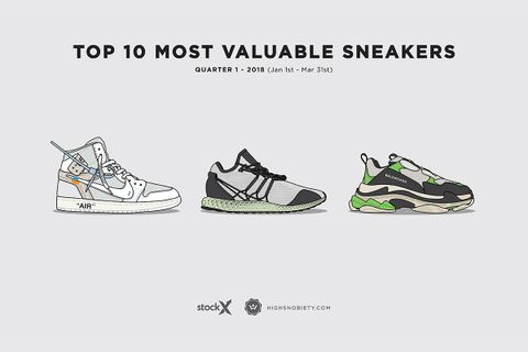 33561fc32 The 10 Most Valuable Sneakers of 2018 So Far