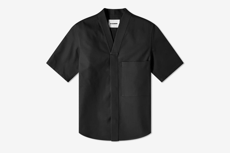 Kimono Collar Overshirt