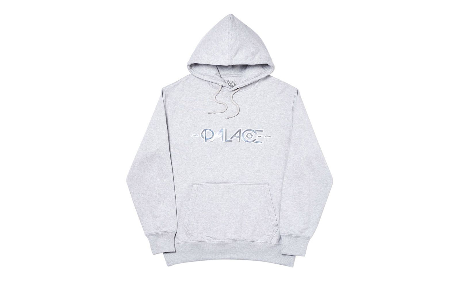 Palace 2019 Autumn Hood Obsisson Grey Marl Front
