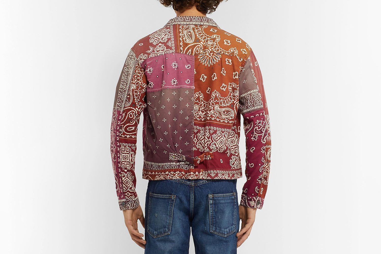 Patchwork Bandana-Print Cotton-Blend Jacket