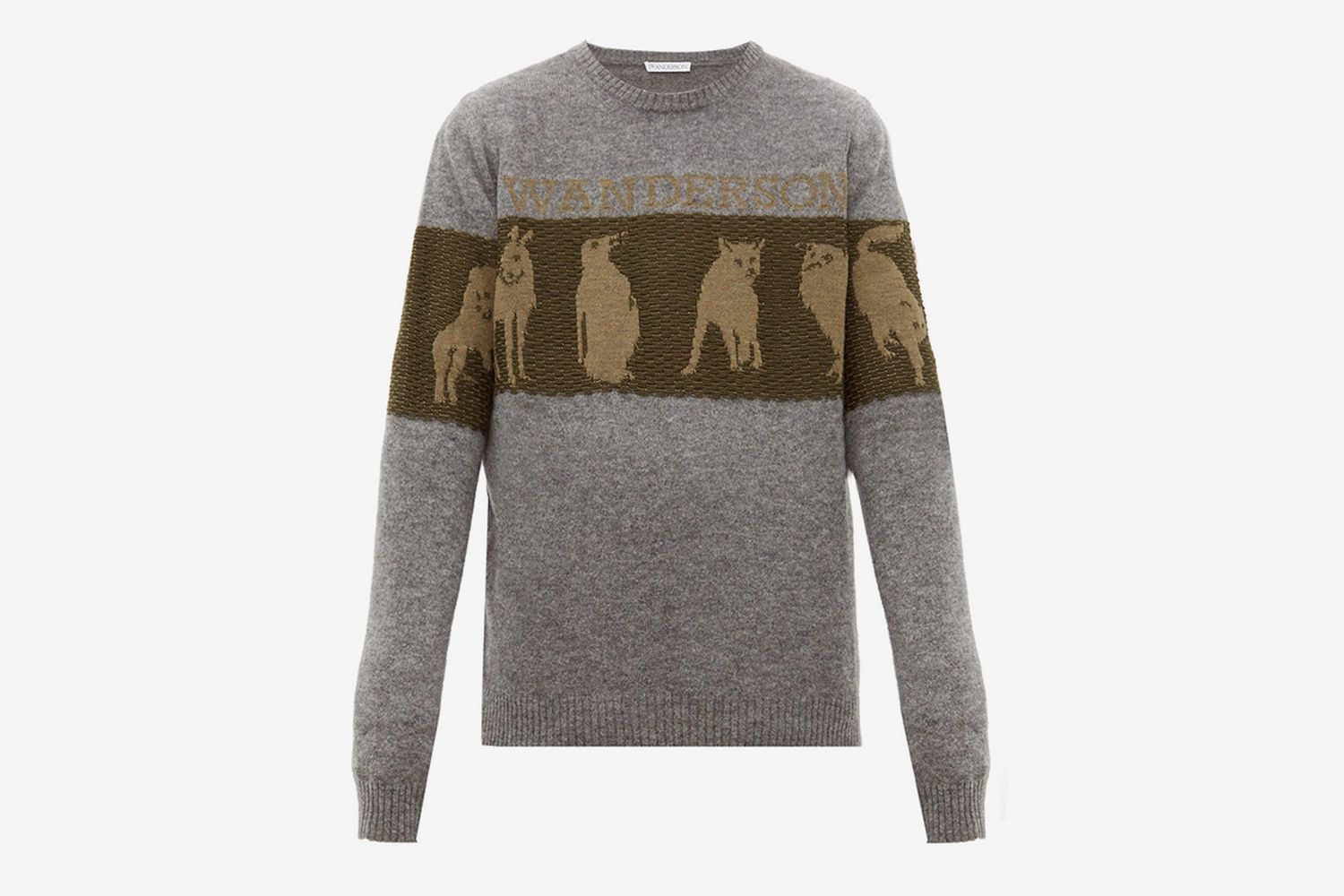 Animal-jacquard Wool-blend Sweater