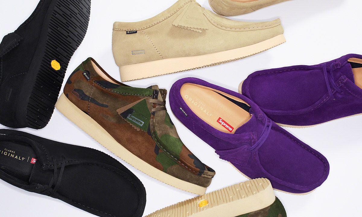 Supreme x Clarks Originals Give the Wallabee Shoe a Seasonal-Appropriate Upgrade