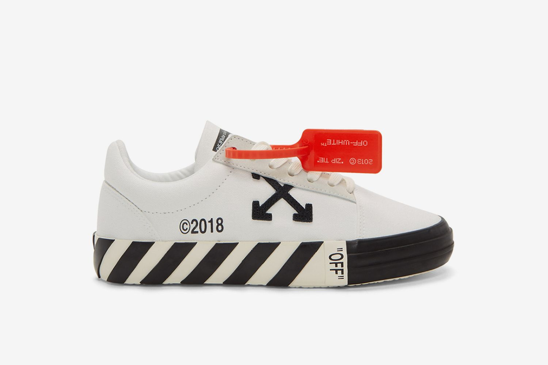 Striped Vulcanized Sneakers
